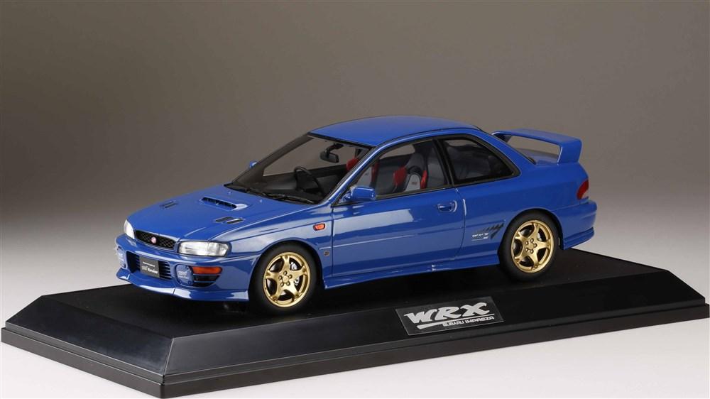 ホビージャパン 1/18 スバル インプレッサ WRX タイプR STiバージョン IV Vリミテッド GC8 1998 ソニックブルーマイカ 完成品ミニカー HJ1812ELBL