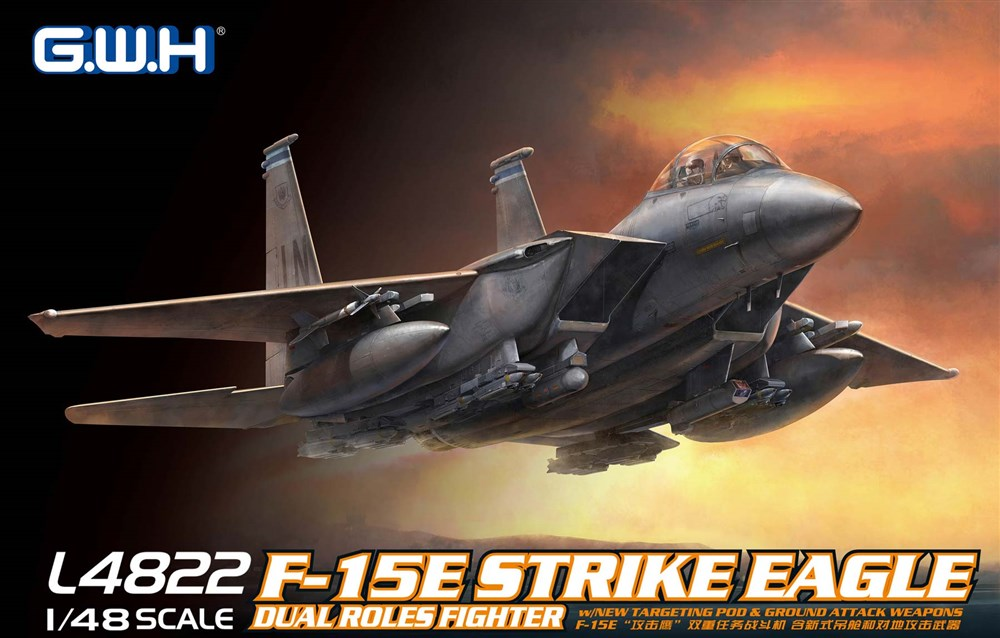 グレートウォールホビー 1/48 アメリカ空軍 F-15E 戦闘爆撃機 スケールプラモデル L4822