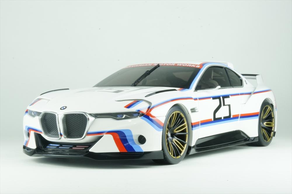 ディーラー別注 1/18 BMW 3.0 CSL R オマージュ 2015 ホワイト 完成品ミニカー 80432454782