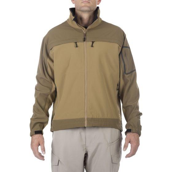 5.11タクティカル カメレオンソフトシェルジャケット カラー:フラットダークアース サイズ:XL ミリタリー 48099