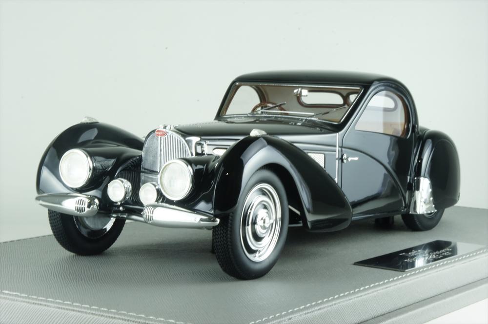 イラリオ 1/18 ブガッティ T57SC アトランテ 1937 オリジナル&現行車 ブラック 完成品ミニカー IL1812