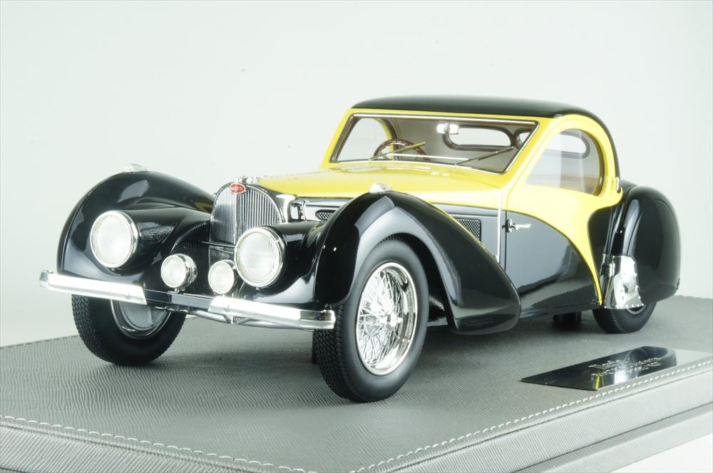 イラリオ 1/18 ブガッティ T57SC アトランテ 1937 オリジナル&現行車 ブラック/イエロー 完成品ミニカー IL1813