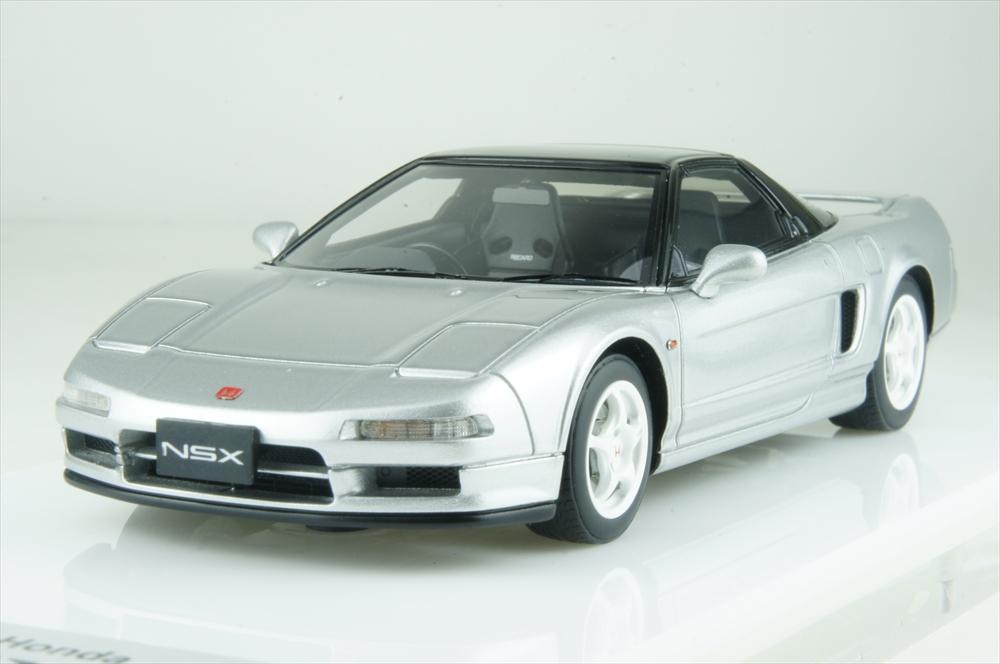 アイドロン 1/43 ホンダ NSX-R(NA1) 1992 シルバー 完成品ミニカー EM388G