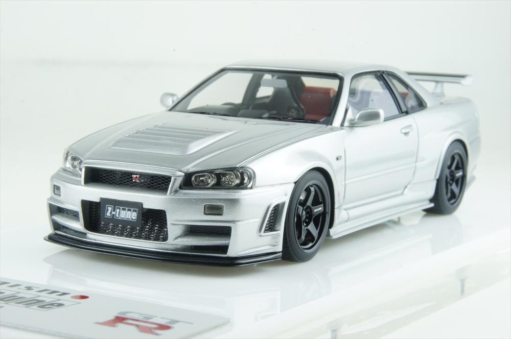 アイドロン 1/43 ニスモ R34 GT-R Z-tune シルバー 完成品ミニカー EM396A