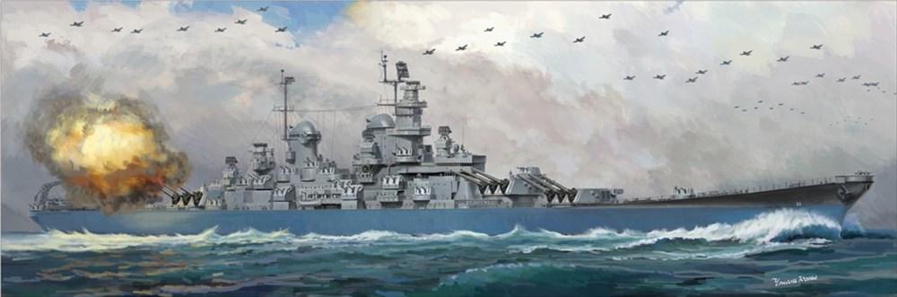 【20%OFF】ベリーファイア 1/350 米海軍 戦艦 ウィスコンシン (BB-64) スケールプラモデル VFM350912