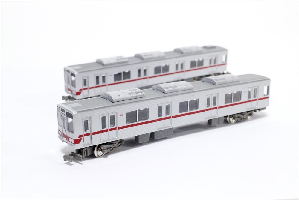 グリーンマックスNゲージ 東武30000系(東上線・新ロゴマーク付き)増結用中間車4両セット 動力無し 鉄道模型 30769