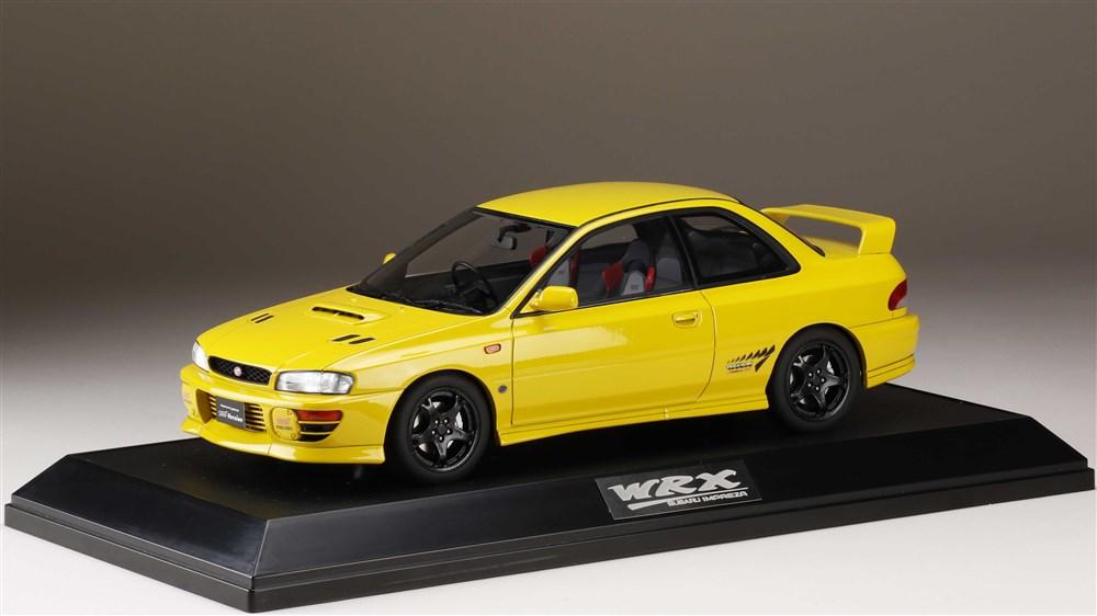 ホビージャパン 1/18 スバル インプレッサWRX タイプ R STi Ver.1997(GC8) チェイスイエロー 完成品ミニカー HJ1812DY