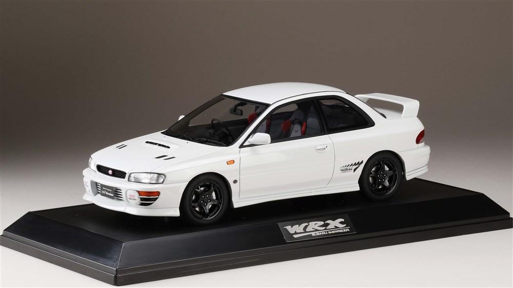 ホビージャパン 1/18 スバル インプレッサWRX タイプ R STi Ver.1997(GC8) フェザーホワイト 完成品ミニカー HJ1812DW