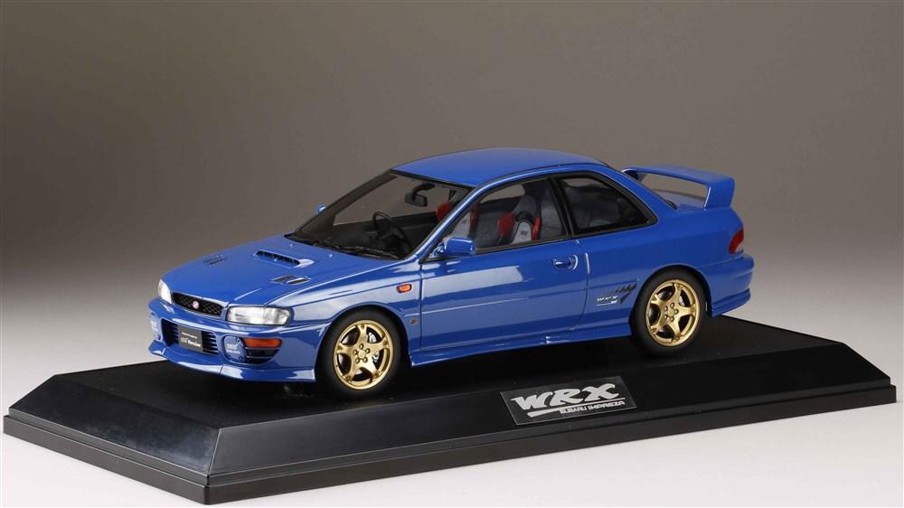 【予約】 ホビージャパン 1/18 スバル インプレッサWRX タイプ R STi Ver.1997(GC8) ソニックブルーマイカ 完成品ミニカー HJ1812DBL