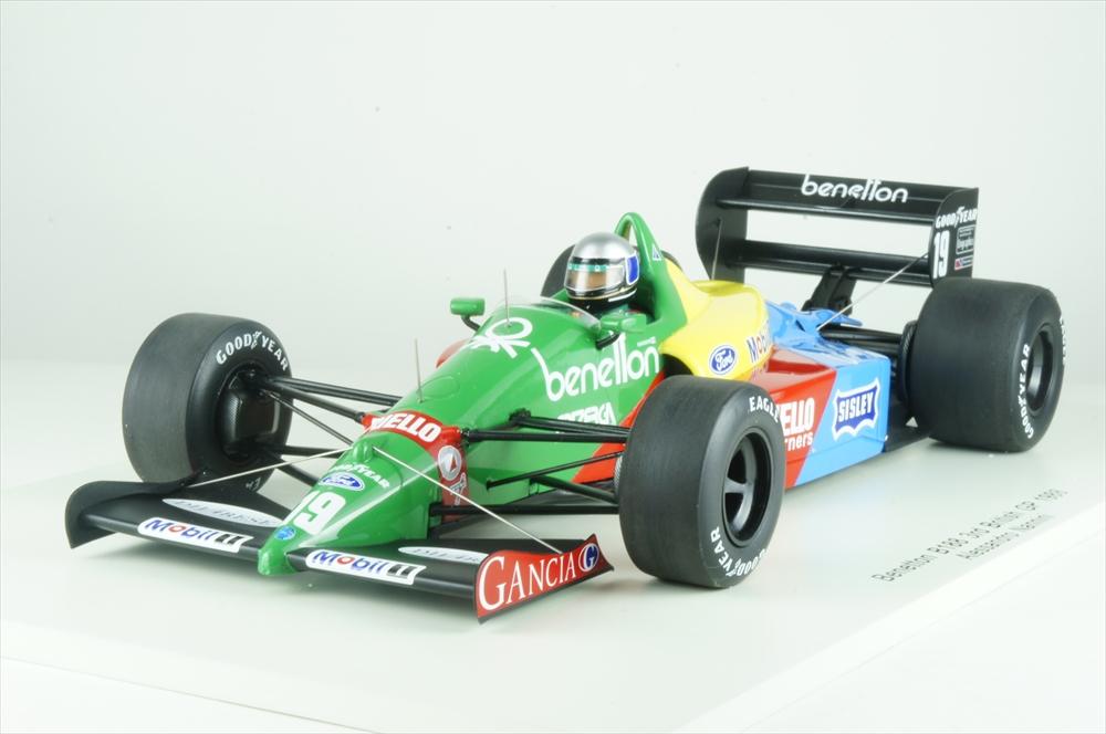 スパーク 1/18 ベネトン B188 No.19 1988 F1 イギリスGP 3位 A.ナニーニ 完成品ミニカー 18S221