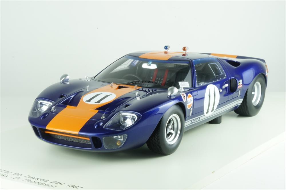スパーク 1/18 フォード GT40 No.11 1967 デイトナ24時間 6位 クラスウイナー D.トンプソン/J.イクス 完成品ミニカー 18S294