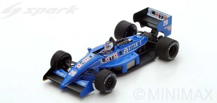 スパーク 1/43 リジェ JS31 No.26 1988 F1 デトロイトGP S.ジョナサン 完成品ミニカー S3969