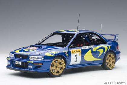 オートアート 1/18 スバル インプレッサ WRC No.3 1997 モンテカルロラリー C.マクレー/N.グリスト 完成品ミニカー 89790