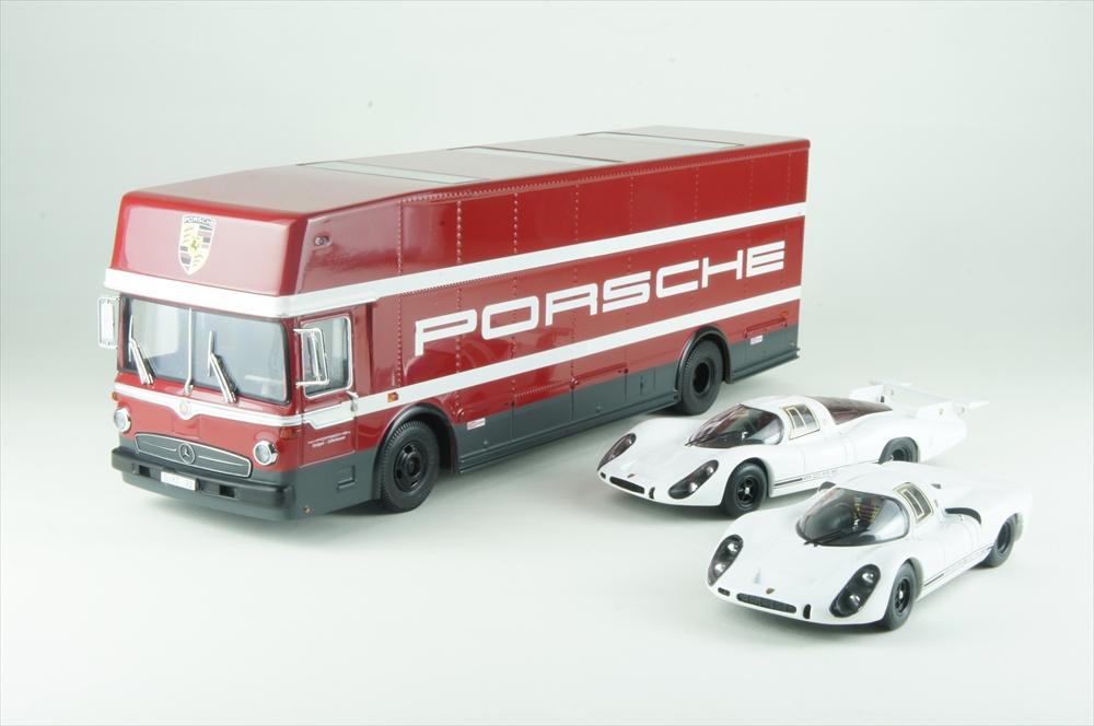 シュコー 1/43 ポルシェ 70th セット トランスポーター+908K+908L 完成品ミニカー 450372700