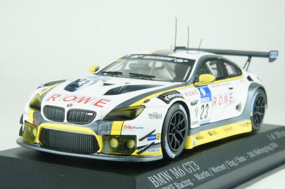 ミニチャンプス 1/43 BMW M6 GT3 ローレーシング No.23 2016 ニュルブルクリンク24時間 マーティン/ワーナー/エング/シムス 完成品ミニカー 437162623
