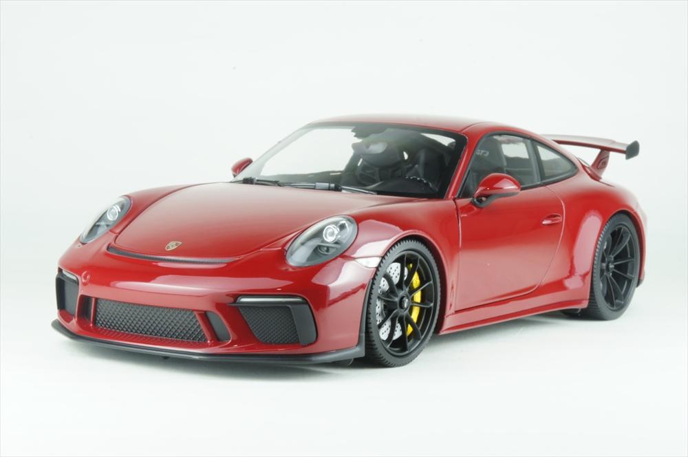 ミニチャンプス 1/18 ポルシェ 911 GT3 2017 レッド/ブラックホイール 完成品ミニカー 110067020