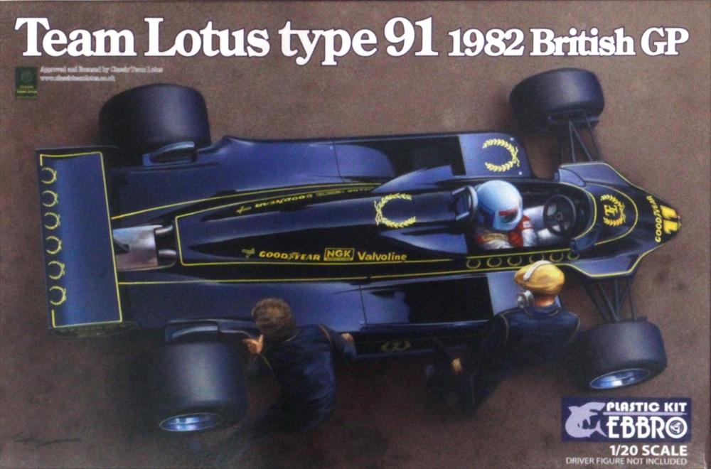 Ebbro 20012 Team Lotus Type 91 1982 1//20 scale plastic model kit