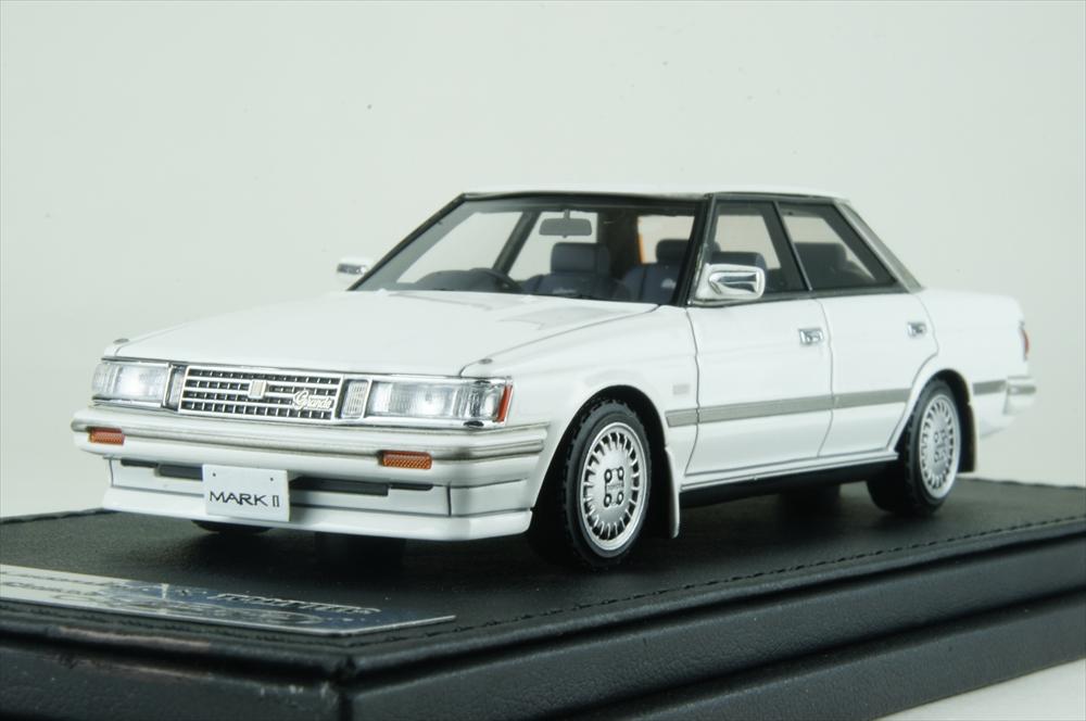 イグニッションモデル×トミーテック トヨタ マークIIグランデ リミテッド 87年式 ホワイト 完成品ミニカー T-IG4312