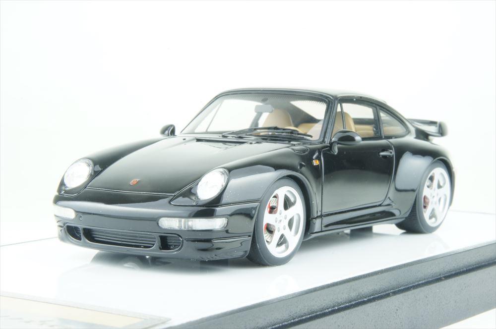 ブラックメタリック 1995 ポルシェ VM143E 993 完成品ミニカー 1/43 ヴィジョン 911 ターボ