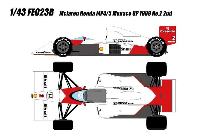 【予約】 アイドロン フォーミュラ 1/43 マクラーレン フォードMP4/5 No.1 1989 F1 モナコGP A.プロスト 完成品ミニカー FE023B