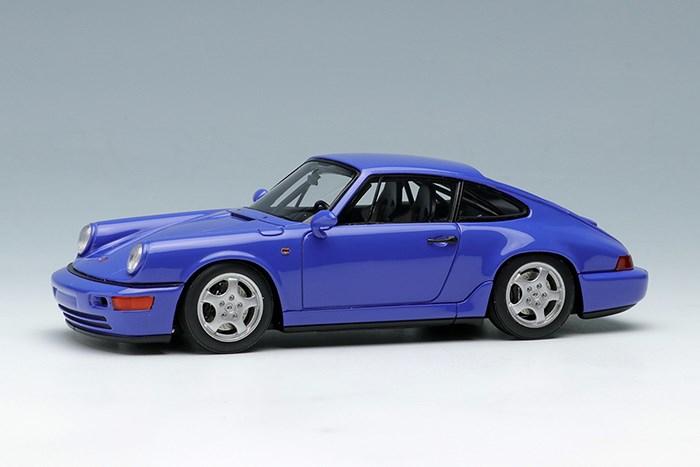 【予約】 ヴィジョン 1/43 ポルシェ 911(964) カレラ RS クラブスポーツ 1992 マリタイムブルー 完成品ミニカー VM139B