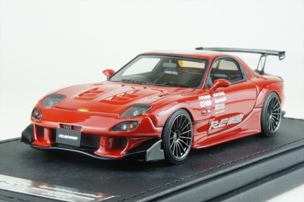 イグニッションモデル1/43 マツダ RX-7 (FD3S) RE 雨宮レッド 完成品ミニカー IG1343
