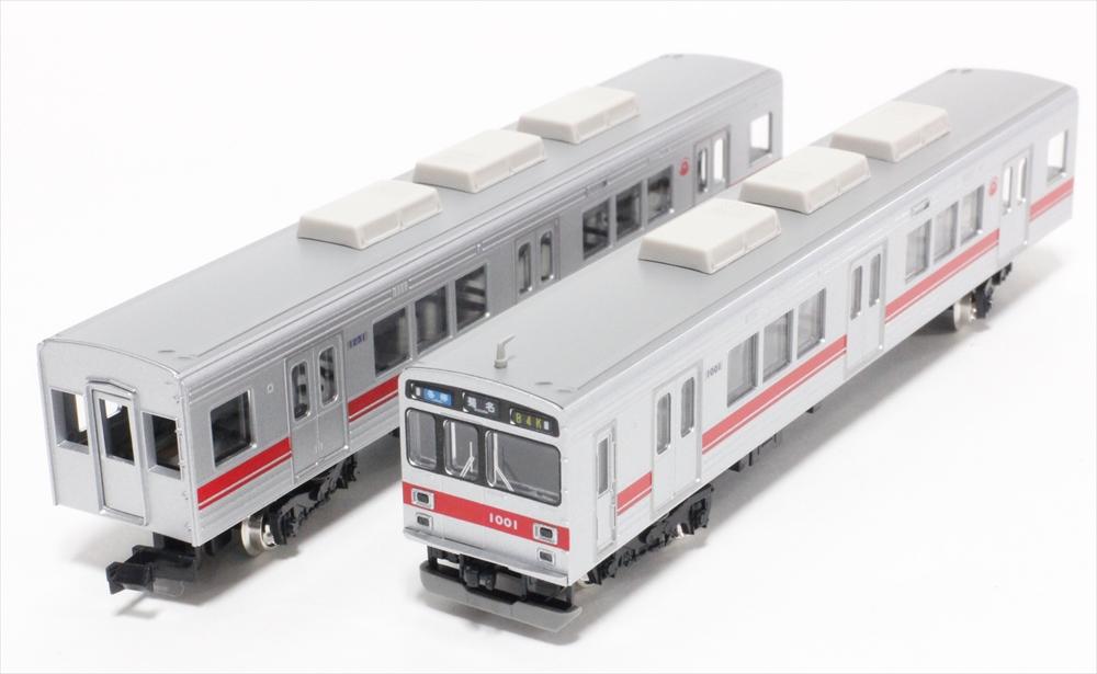 グリーンマックスNゲージ 東急1000系(東横線・従来型スカート)8両編成セット(動力付) 鉄道模型 30758