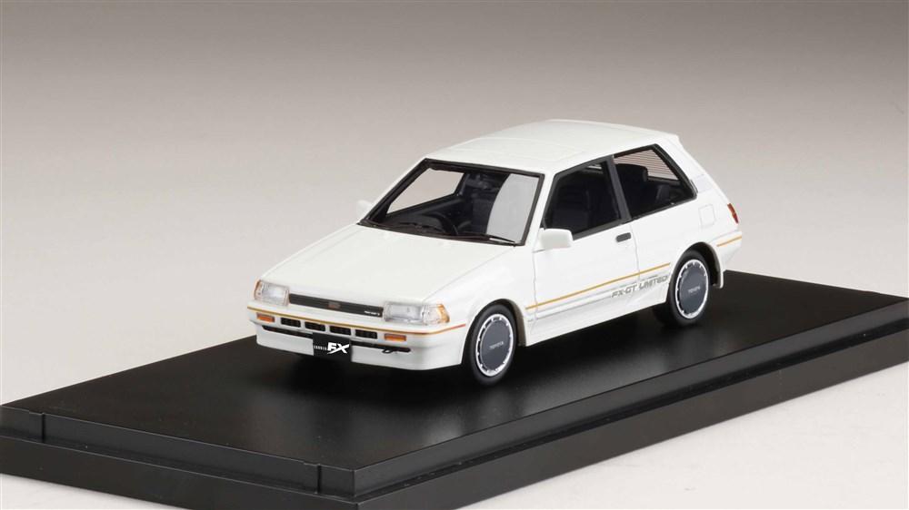 MARK43 1/43 トヨタ カローラ FX-GT リミテッド AE82 ホワイト 完成品ミニカー PM43108LW