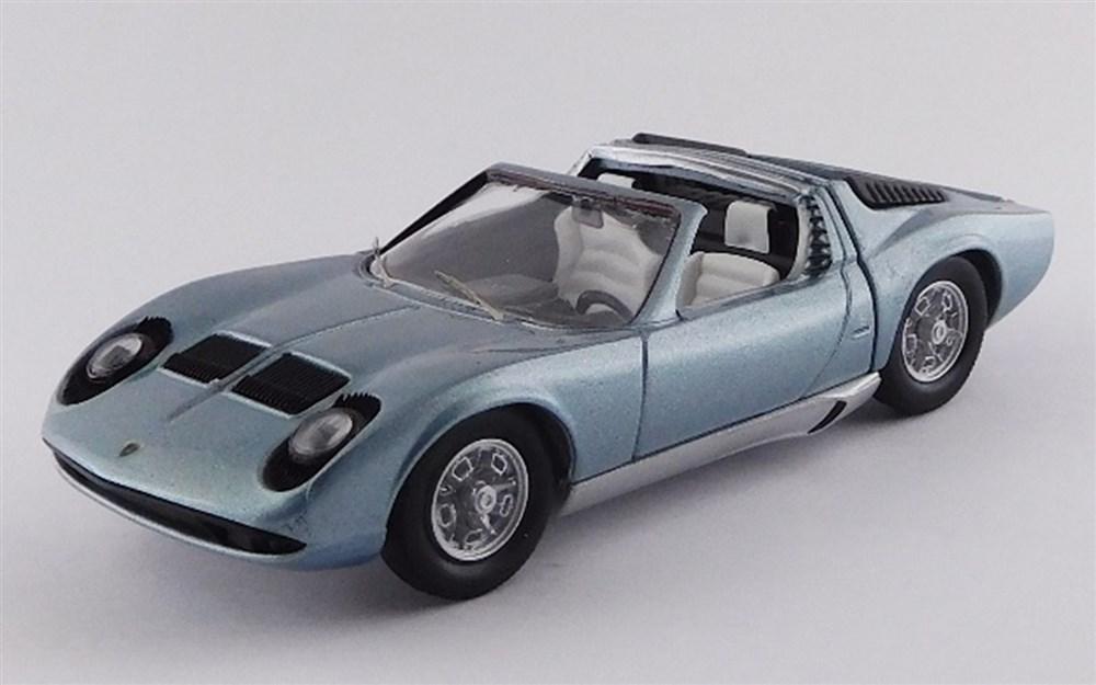 【予約】 リオ 1/43 ランボルギーニ ミウラ ロードスター ベルトーネ 1968 ブリッセルモーターショー 完成品ミニカー RIO4579