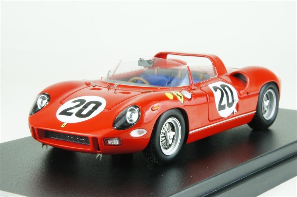 ルックスマート 1/43 フェラーリ 275P No.20 1964 ル・マン24時間 ウイナー J.グーシェ/N.ヴァッカレラ 完成品ミニカー LSLM050