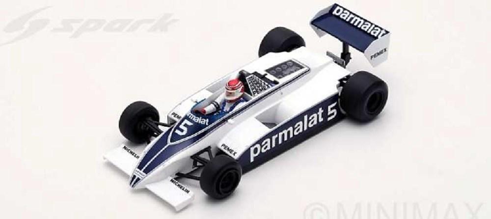 【予約】 スパーク 1/18 ブラバム BT49C No.5 1981 F1 アルゼンチンGP ワールドチャンピオン ウイナー N.ピケ 完成品ミニカー 18S166