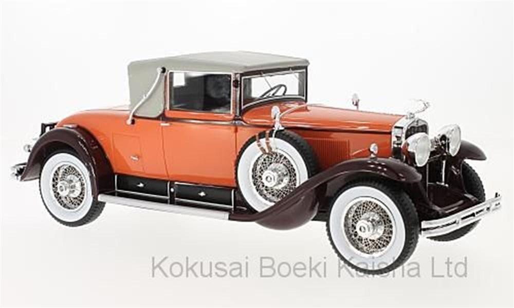 【予約】 ボスモデルズ 1/18 キャデラック 341 B コンバーチブル クーペ 1929 オレンジ/ブラウン 完成品ミニカー BOS283