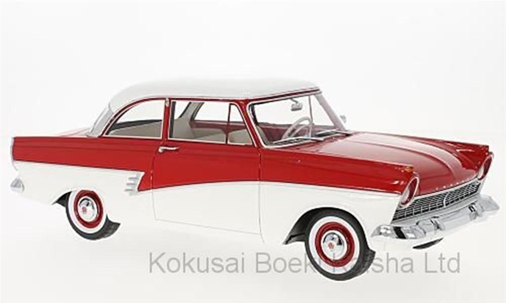 【予約】 ボスモデルズ 1/18 フォード タウヌス 17M P2 1957 レッド/ホワイト 完成品ミニカー BOS347