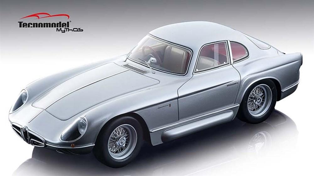 【予約】 テクノモデル 1/18 アルファ ロメオ 2000 スポルティーバ ベルトーネ 1954 メタリックシルバー 完成品ミニカー TM18-140B
