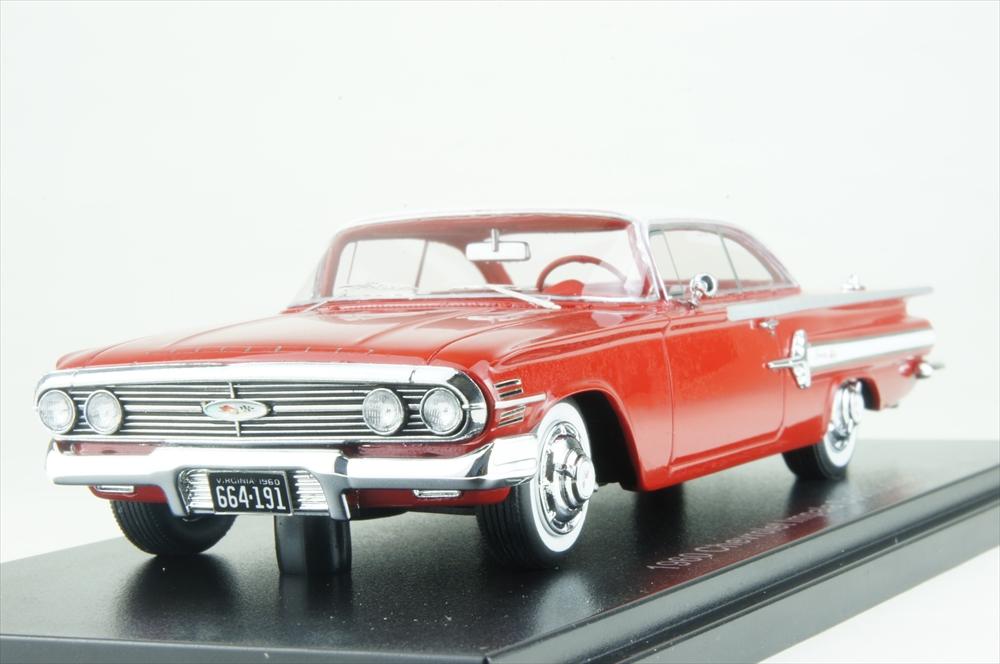 ネオ 1/43 シボレー インパラ スポーツクーペ 1960 レッド/ホワイト 完成品ミニカー NEO46915