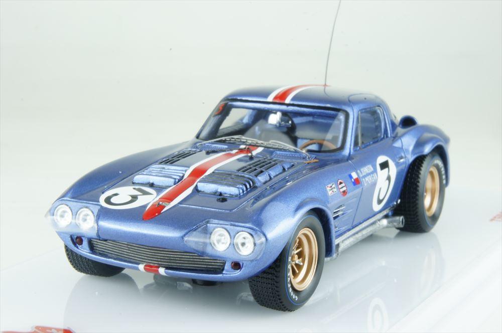 トゥルースケール 1/43 シボレー コルベット グランスポーツ No.3 1964 セブリング12時間 完成品ミニカー TSM164348