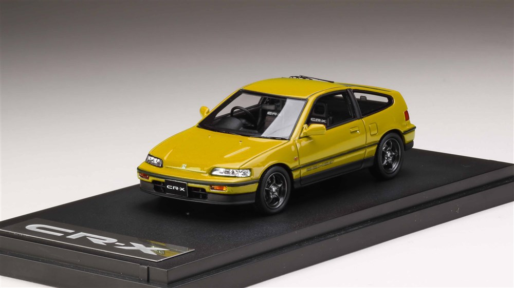 【予約】 MARK43 1/43 Honda CR-X Si (EF7) with 無限 RNR Wheel イエロー 完成品ミニカー PM43115MY