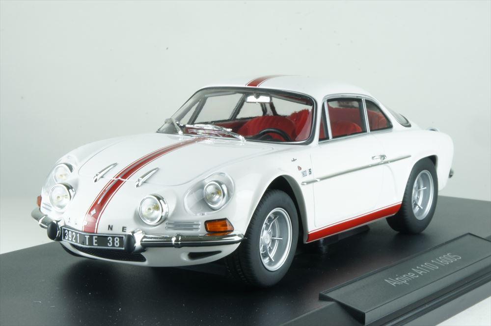 ノレブ1/18 アルピーヌ ルノー A110 1600S 1971 ホワイト/レッドストライプ 完成品ミニカー 185303