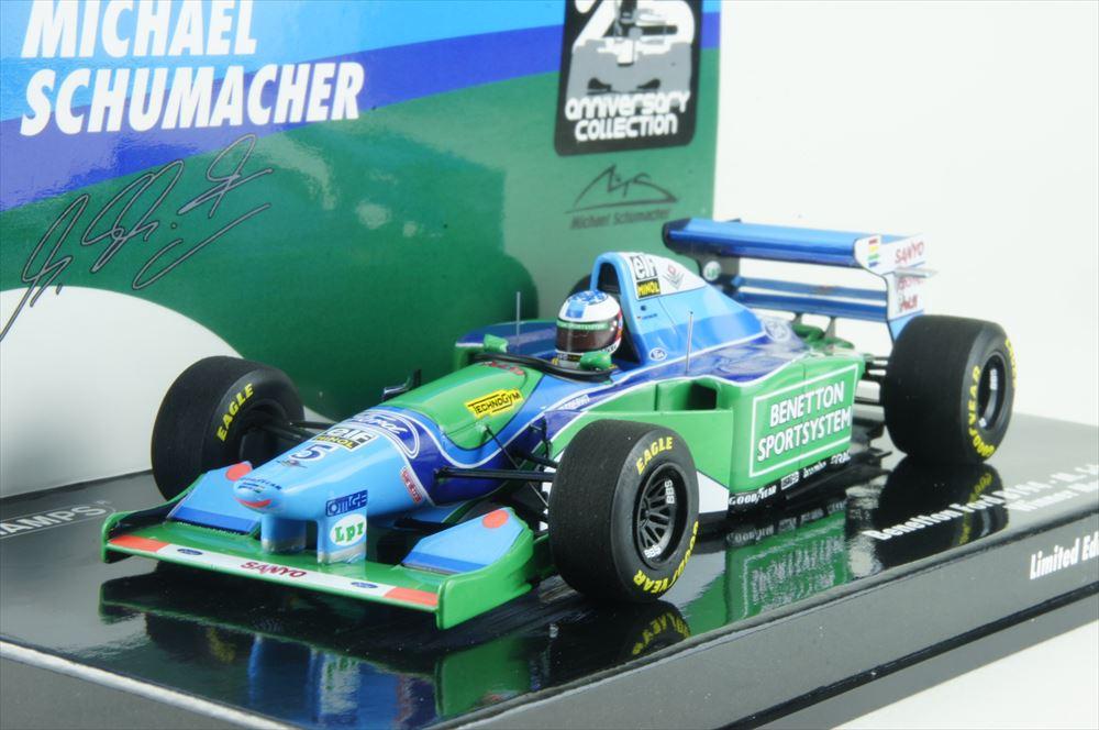 ミニチャンプス 1/43 ベネトン フォード B194 1994 F1 モナコGP ウィナー M.シューマッハ 完成品ミニカー 517940405