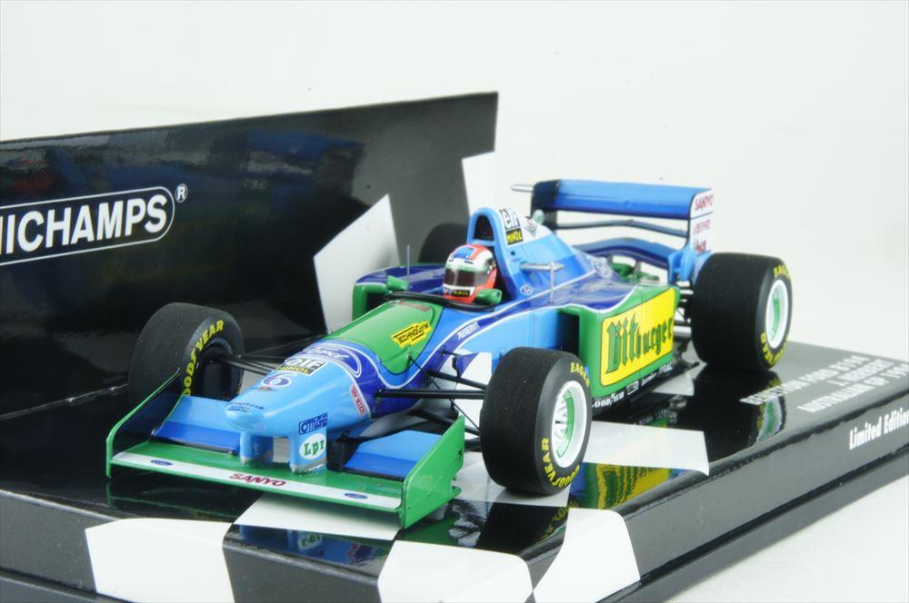 ミニチャンプス 1/43 ベネトン フォード B194 1994 F1 オーストラリアGP J.ハーバート 完成品ミニカー 417941606