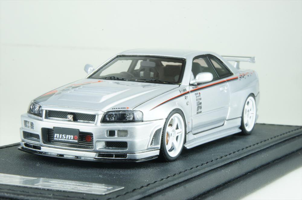 イグニッションモデル1/43 ニスモ R34 GT-R R-tune シルバー 完成品ミニカー IG1607