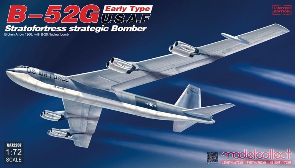 モデルコレクト 1/72 B-52G ストラトフォートレス 前期型 w/B28核爆弾 ブロークン・アロー パロマレス米軍機墜落事故 スケールプラモデル MODUA72207