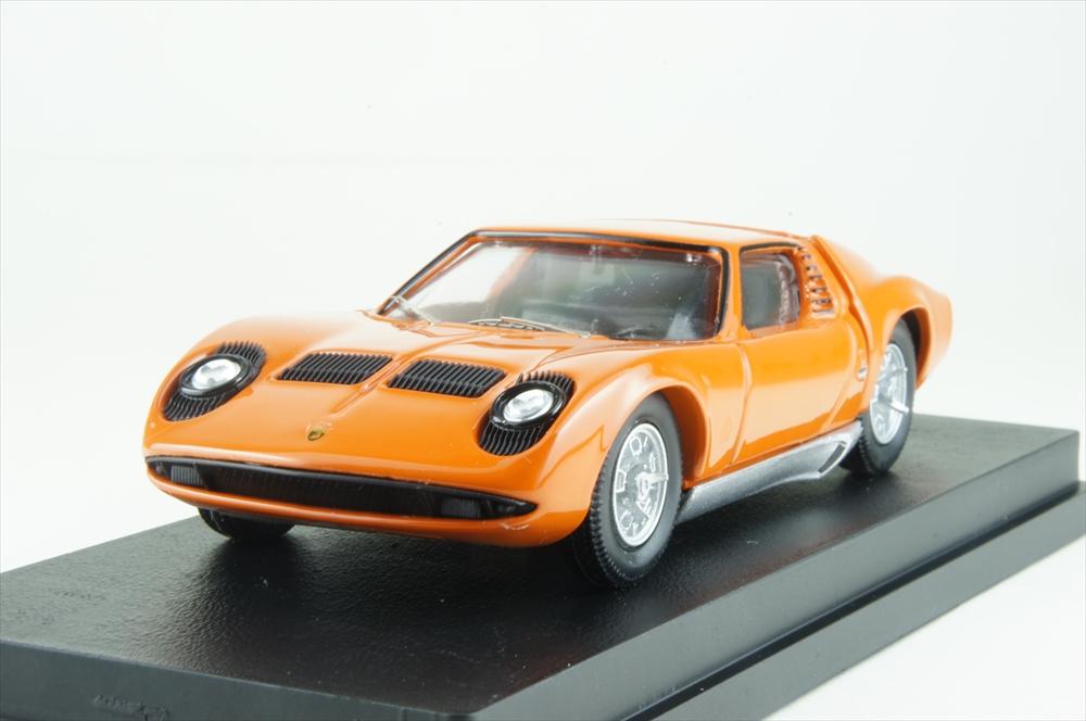 リオ 1/43 ランボルギーニ ミウラ P400 1966 ベルトーネオレンジ 完成品ミニカー RIO4583