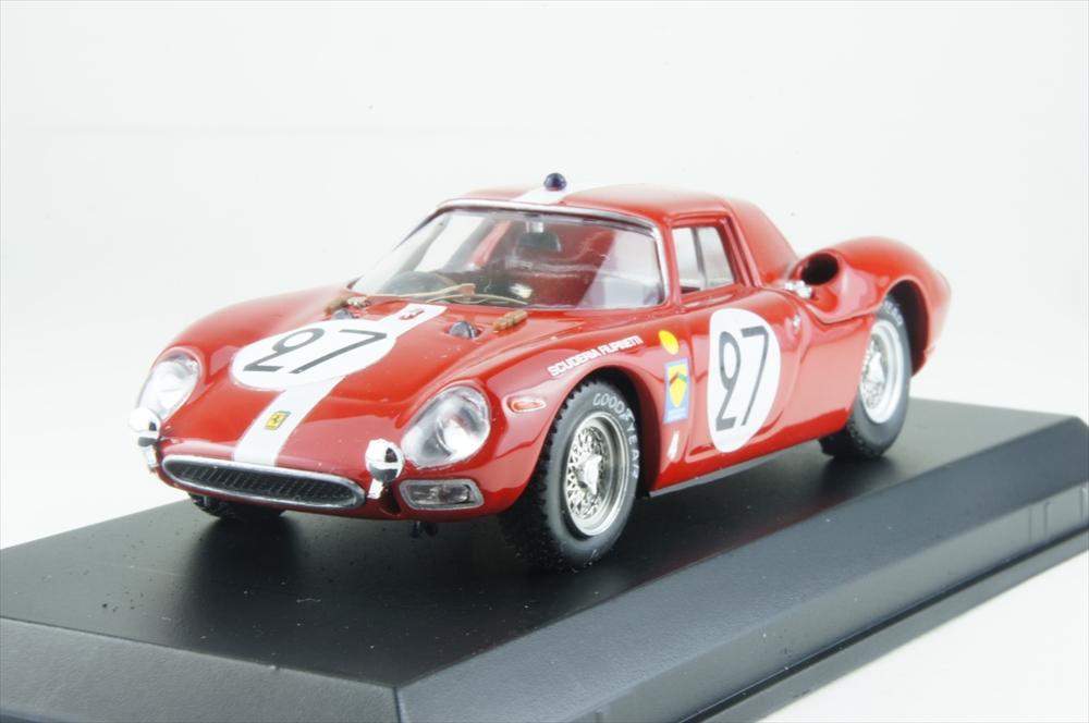 ベストモデル 1/43 フェラーリ 250 LM No.27 1965 ル・マン24時間 6位 A.ボラー/D.スポエリ 完成品ミニカー BEST9025/2