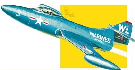 AMT 1/48 アメリカ海軍 艦上戦闘機 グラマンF9F パンサー スケールプラモデル AMT813