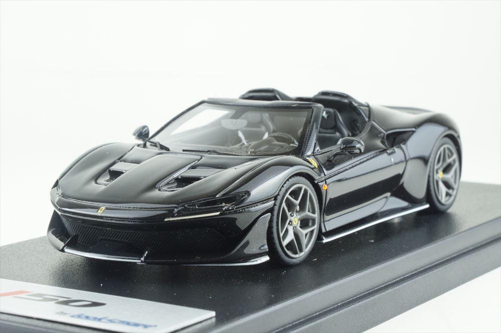 ルックスマート 1/43 フェラーリ J50 Nero Daytona Shiny ブラック ホワイトラインアクセント 完成品ミニカー LS485F