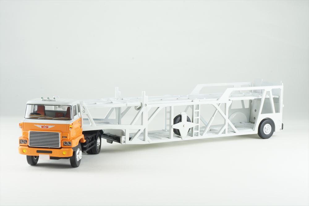 トミーテック1/64 LV-N89d 日野カートランスポーター ホワイト/オレンジ 完成品ミニカー 300113