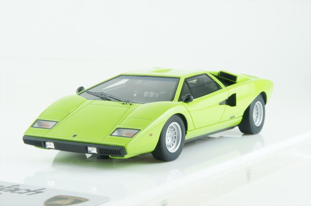 アイドロン 1/43 ランボルギーニ カウンタック LP400 1974 ライムグリーン 完成品ミニカー EM387J