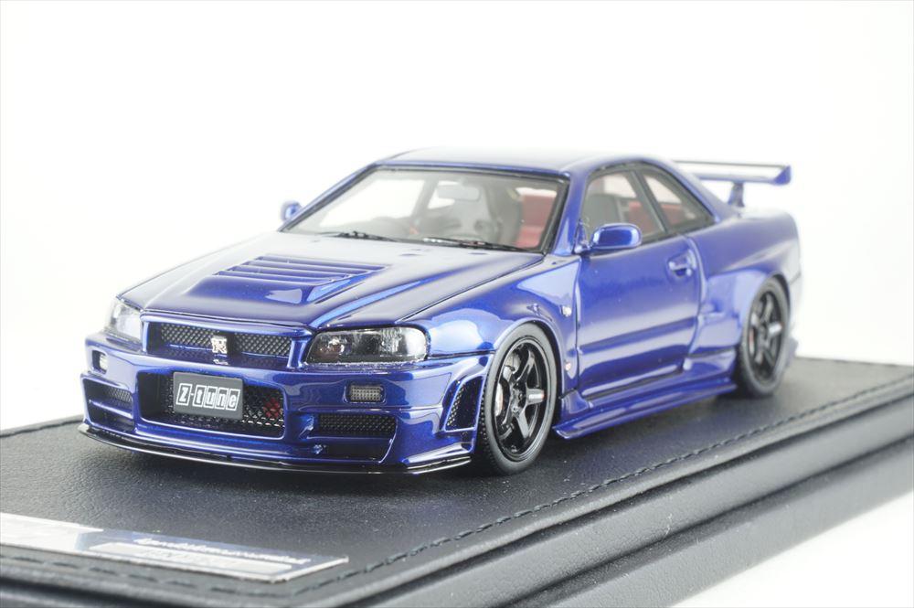 イグニッションモデル1/43 ニスモ R34 GT-R Z-tune ベイサイドブルー 完成品ミニカー IG1608