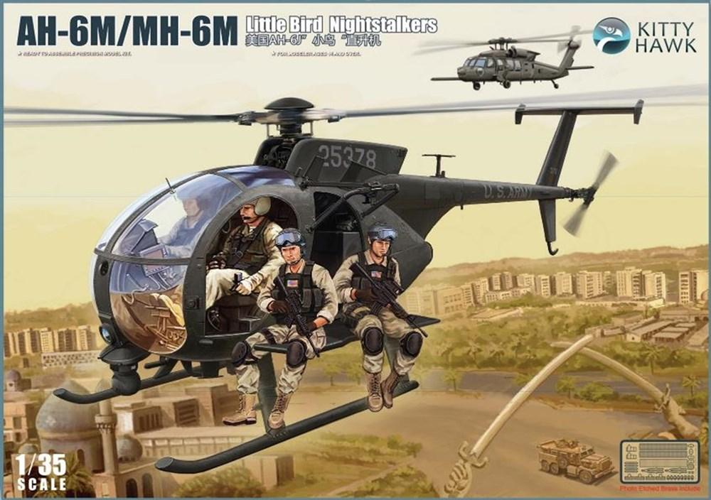 キティホークモデル 1/35 AH-6M/MH-6M リトルバード w/フィギュア6体 スケールプラモデル KITKH50002